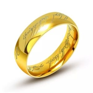 6mm Gold Lord Of The Rings Ring